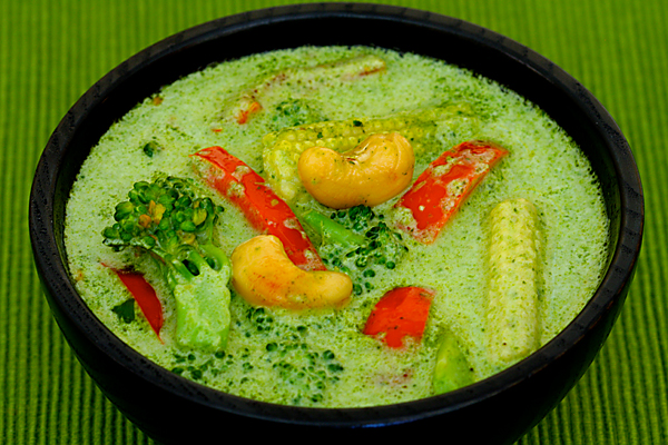 Thai Green Curry, bursting with colours and flavours!